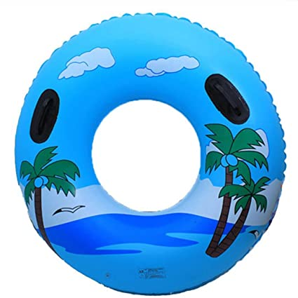 Gigante Inflable Anillo De Natación Tubo Balsa Flotador De La Piscina Árbol De Coco Válvulas Rápidas