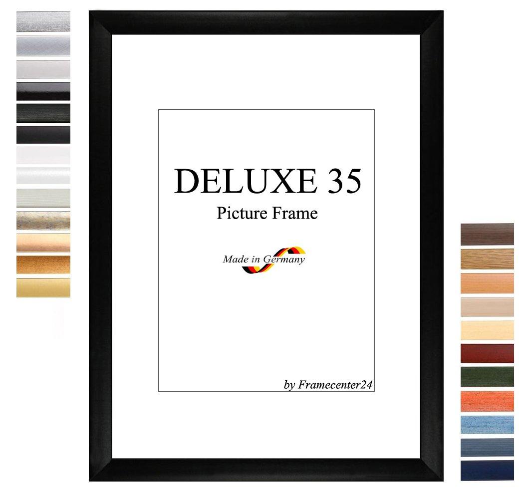 Bilderrahmen DELUXE35 DELUXE35 DELUXE35 75x100 oder 100x75 cm in TERRACOTTA mit AntiReflex Kunstglas und MDF Rückwand, 35 mm breite MDF-Leiste mit Dekor Folienummantelung 81388a