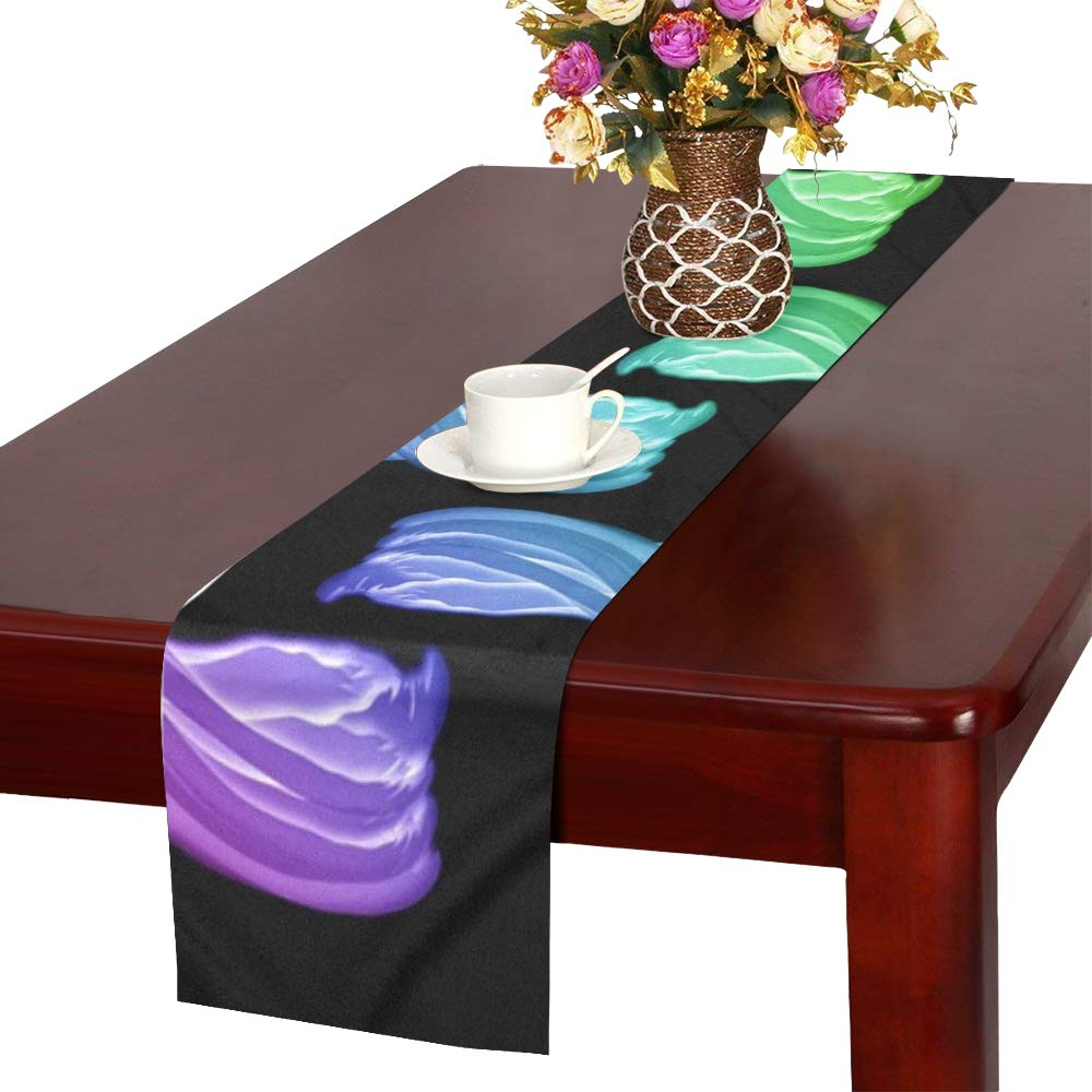 Image Brushes Color Structure Table Runner, Kitchen Dining Table Runner 16 X 72 Inch For Dinner Parties, Events, Decor