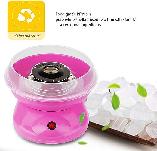 YIFAA Algodonera Máquina de Hacer algodón de azúcar, Electrodoméstico de algodón de azúcar,Regalo para niños (Rosa): Amazon.es