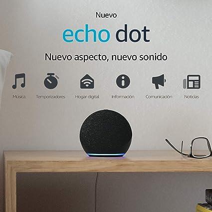 Todo para el streamer: Nuevo Echo Dot (4.ª generación) | Altavoz inteligente con Alexa | Antracita