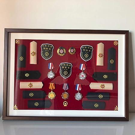 ZHXY Caja expositora Insignias Caja exhibición medallas Marco para exhibir medallas,Medalla de Deportes Cuadro en 3D Marcos de Fotos,Mostrar Guerra Medallas retiradas,brazaletes,charreteras: Amazon.es: Hogar