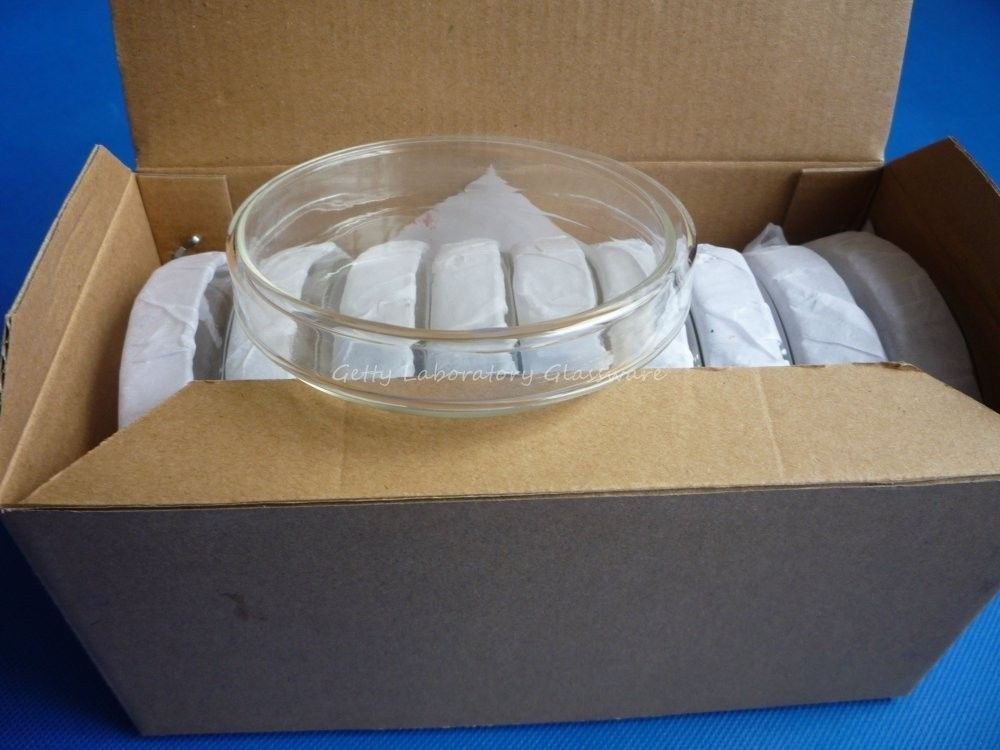 60mm Glass tissue petri dish, culture dish, culture plate with cover,10pieces Beijing Getty Laboratory Glassware Co.