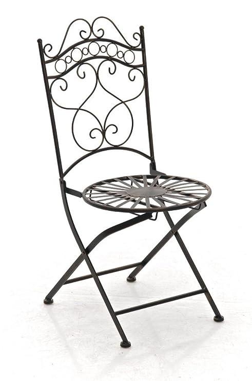 Metal Color Bronce - Silla Plegable para jardín, terraza ...