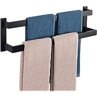 Alise GOY002-B Bathroom Double Towel Bar Wall Mount 24-Inch,SUS304 Stainless Steel Matte Black