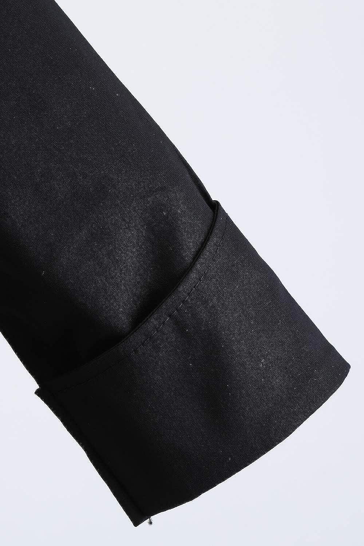MisShow Damen Elegante Retro Vintage Kleid Cocktailkleid mit hoher Taille Bauwollmisung 1//2 /Ärmel Knielang Schwarz Gr.S-XXL