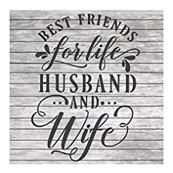 Words Stencil Quote Husband and Wife Bes...