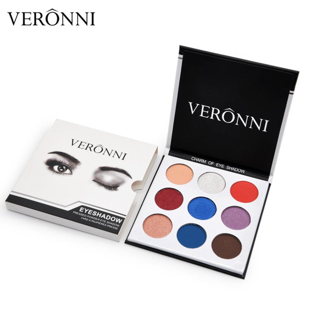 Clearance Colorful Eyeshadow, Keepfit Matte Long Lasting Eye Shadow Press Powder Makeup Cosmetics for Girls Party (C)