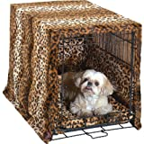 Complete 3 Pc Dog Crate Bedding Set includes Crate Pad, Crate Cover and Bumper - Leopard-Large 36