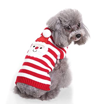 lonni dog christmas sweaterholiday dogs santa claus costume outwear thick coat apperal for small - Large Dog Christmas Sweaters