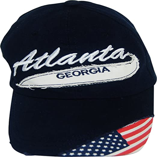 7327ae6ac8647 Selection of Atlanta Adjustable Hats and Caps (Enscripted Navy) at ...