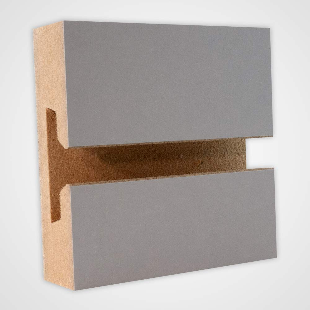 Horizontal Slatwall Panels with Gray Finish in 4 Feet H x 8 Feet W - Lot of 4