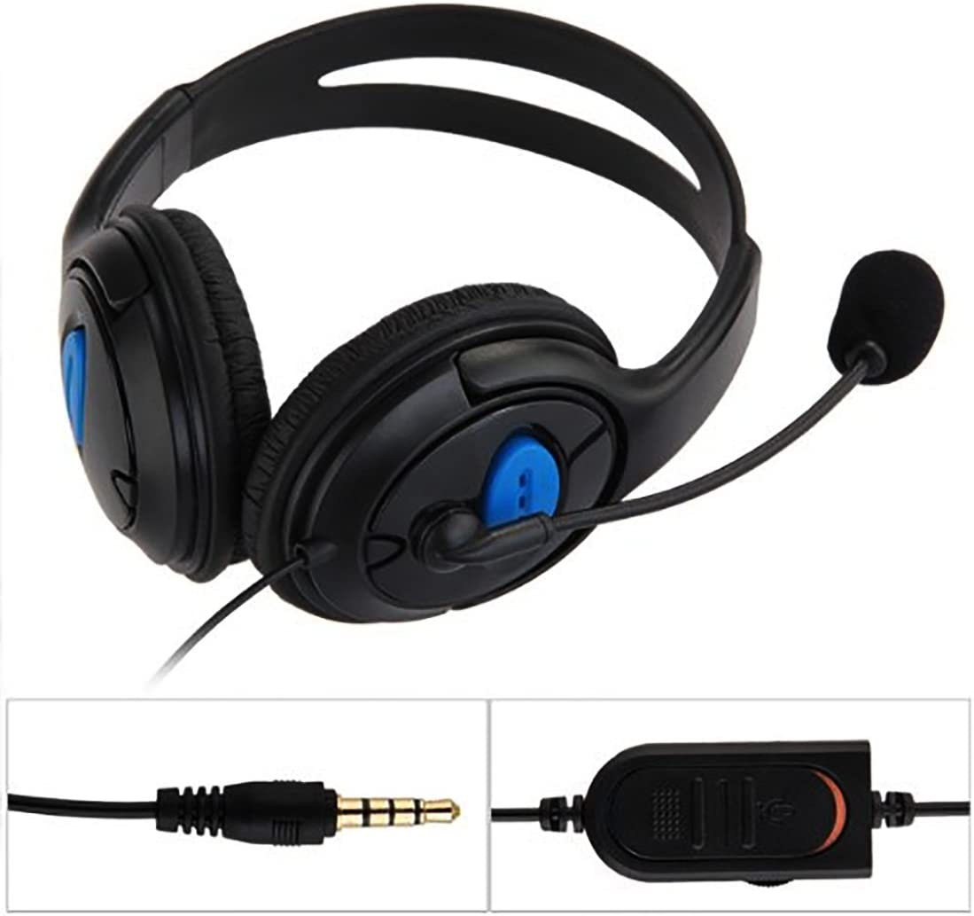 Doble Gran oído Wired Gaming Chat Headset Auricular con micrófono para Sony Playstation 4 PS4 Negro: Amazon.es: Electrónica
