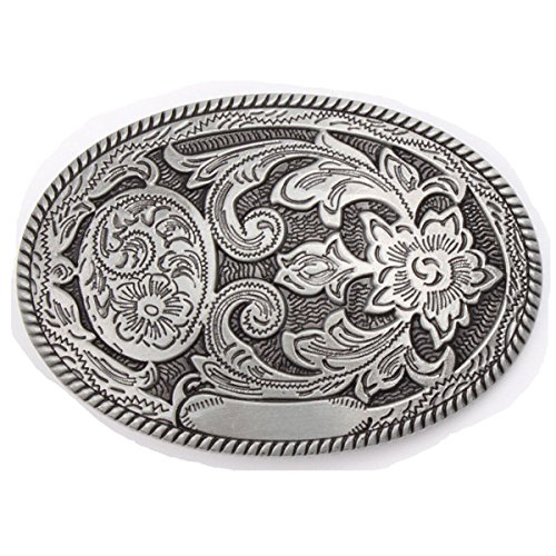 Vintage Karaqusa Flower Tattoo Belt Buckle Western Cowboy Native American (TT-03-S)