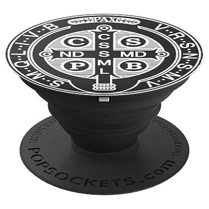 Amazon com: Saint Benedict Medal Catholic - PopSockets Grip and