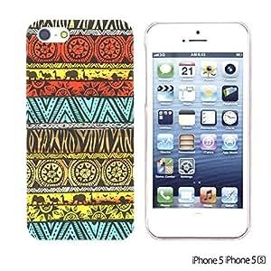 OnlineBestDigital - National Pattern Hardback Case for Apple iPhone 5S / Apple iPhone 5 - Ethnic Pattern with Elephant