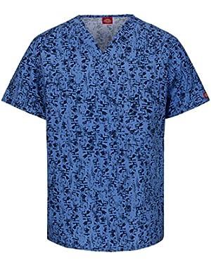 EDS Unisex V-Neck Print Chest Pocket T-shirt,83727C
