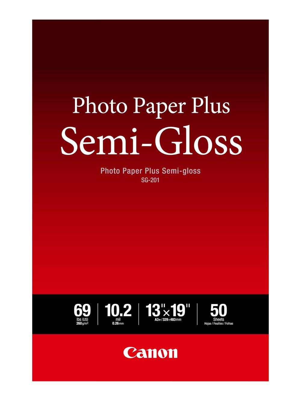 Canon SG-201 13X19(50)  Photo Paper Plus Semi-Gloss 13'' x 19'' (50 Sheets) (SG-201 13X19)