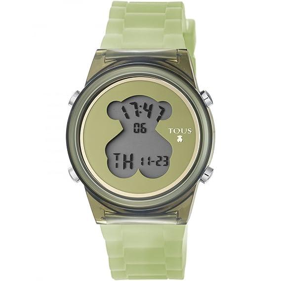 Reloj TOUS D-Bear Fresh de policarbonato con correa de silicona verde: Amazon.es: Relojes
