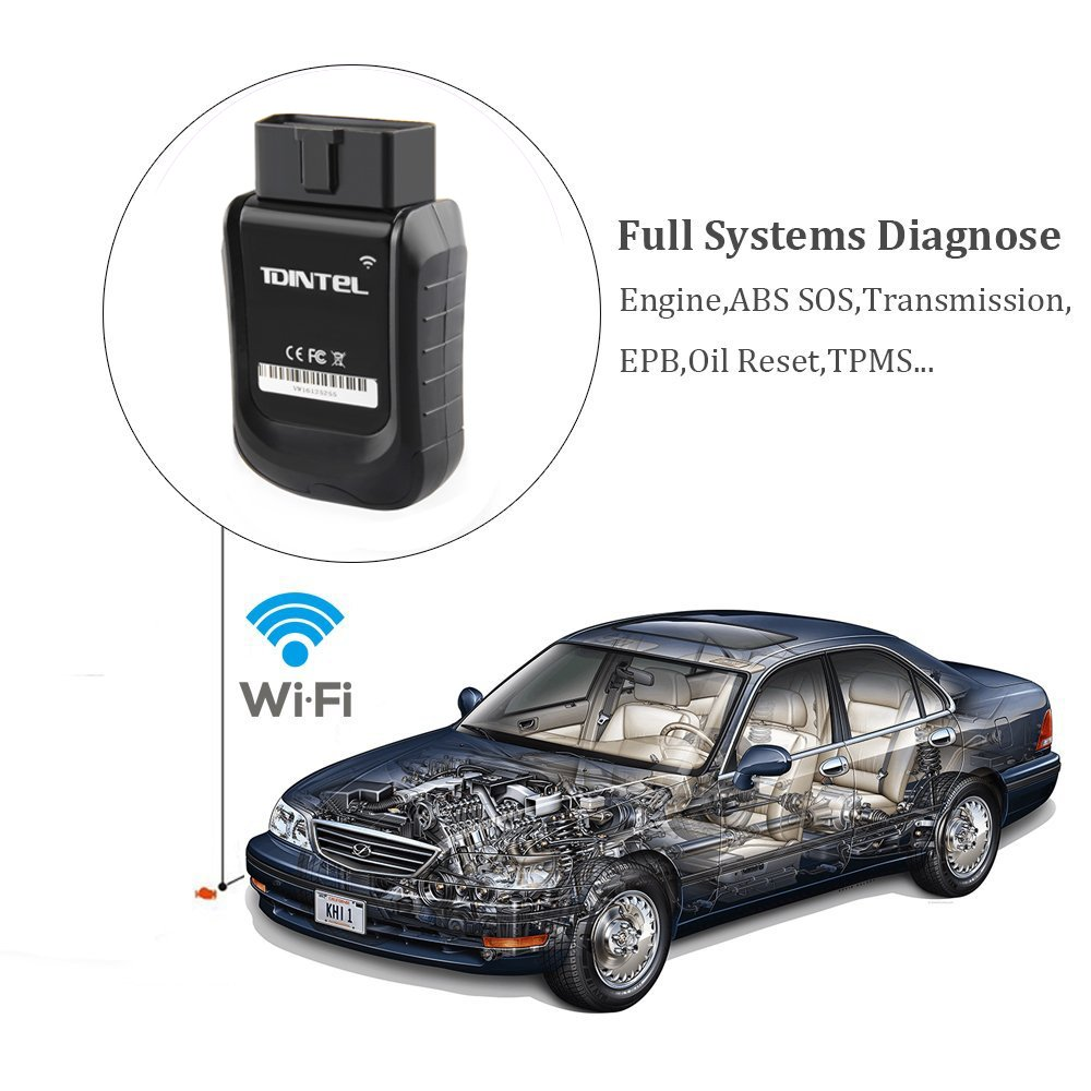 Vpecker WIFI Easydiag V10.3 Car Diagnostic Tool Full System OBDII Scanner OBD2 Automotive Code Reader for American, European, Asian Cars by Vpecker (Image #1)
