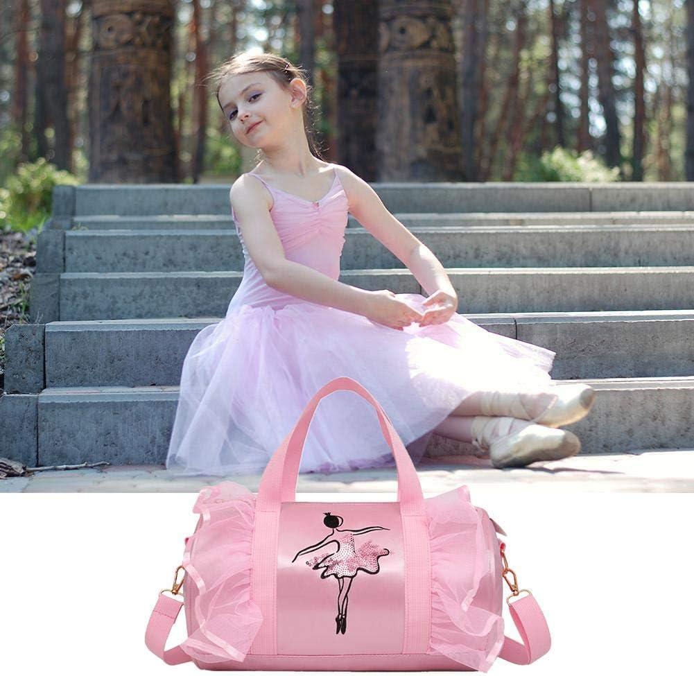 Childrens Dance Bag Shoulder Bag Girls Latin Dance Bag Childrens Ballet Bag Cross-Body Dance Bag