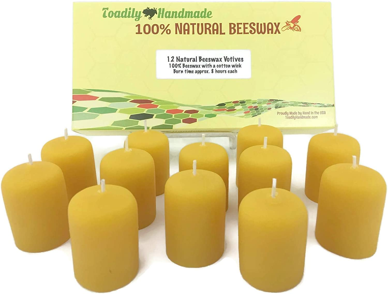 100% velas de cera de abeja (12) - una docena de mano vierte velas ...