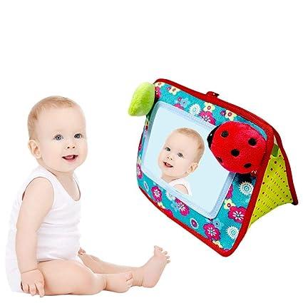 Per Peluches Colgantes para Cuna Bebés Juguetes Blandos con Espejo Distorsionados Juguetes con Sonido para Bebés