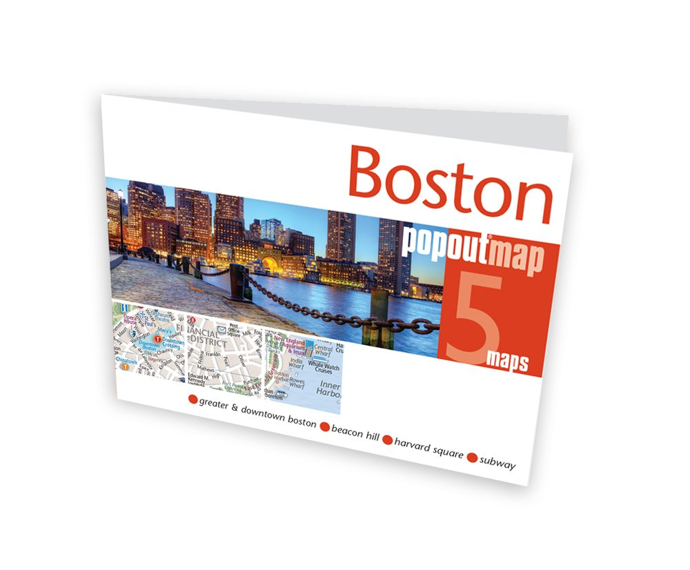 Boston Subway Map Harvard Square.Buy Boston Popout Map Popout Maps Book Online At Low Prices In
