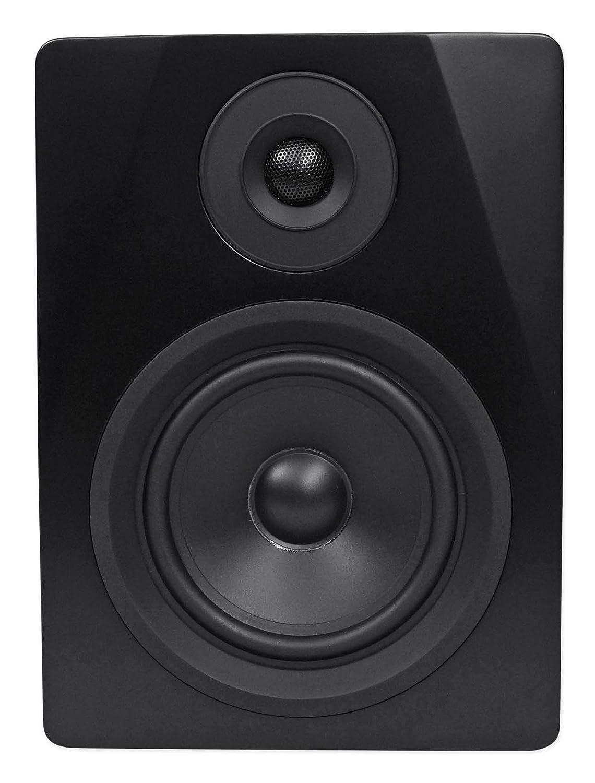 Pair Rockville APM5B 5.25 2-Way 250W Powered USB Studio Monitor Speakers+Pads