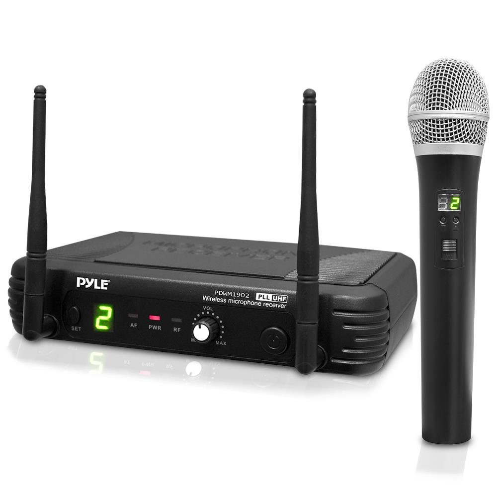 PylePro PDWM1902 Premier Series Professional UHF Wireless Handheld Microphone System with Selectable Frequencies Sound Around