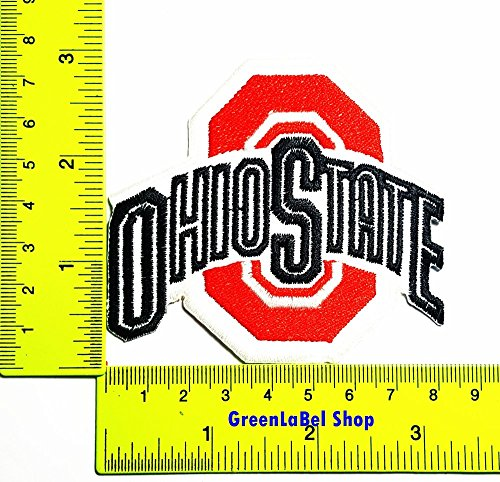 University Applique (Ohio State Buckeyes Sport University Sport Patch Logo Sew Iron on Embroidered Appliques Badge Sign Costume)