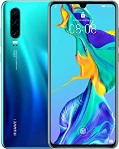 HUAWEI P30 Smartphone, Dual Sim Mobile Phone with 6.1-Inch OLED Display and Leica Triple Camera(40MP+16MP+8MP), 6GB+128GB, Aurora - Australian Version