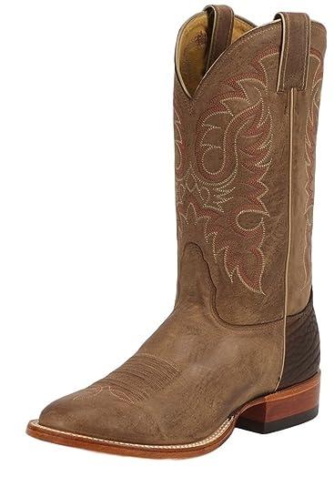 97f870b3af7 Nocona Men's Legacy Series Vintage Cowboy Boot Round Toe Tan 6 EE US ...