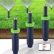 Zlimio 6.1 2.1 inch Auto Pop-up Spray Misting Nozzle Sprinkler Head Lawn Garden Irrigation System with 360 ° / 180 ° / 90 °3 Types Sprinkler Head