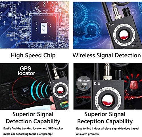 Anti Spy RF Detector – Camera Detector – Wireless Bug Detector Signal – Hidden Cam Wireless Bug Detector Spyware Detector Device and Camera Finder Hidden Camera Detector