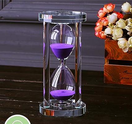 Mingze Temporizador De Reloj De Arena De Cristal Transparente Reloj
