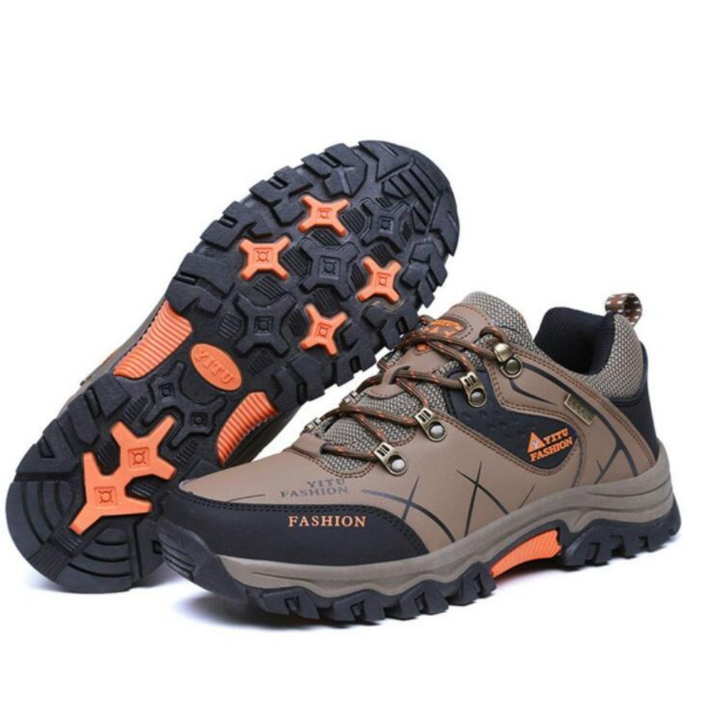 815e00688bd Fashiontown Mens Hiking Shoes High-top Low-Cut Work Boots Wide Insulated  Outdoor Casual Shoes