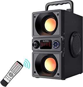 Bluetooth Speakers, Portable Bluetooth Boombox with 30W Stereo Dual Woofers and Dual Tweeters High Volume Wireless Home Party Speaker, Long-Term Playback, Bluetooth 5.0, 100ft Support TF Card/AUX