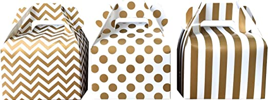 Stripes with Gold Print Polka Dots TM School Backpack