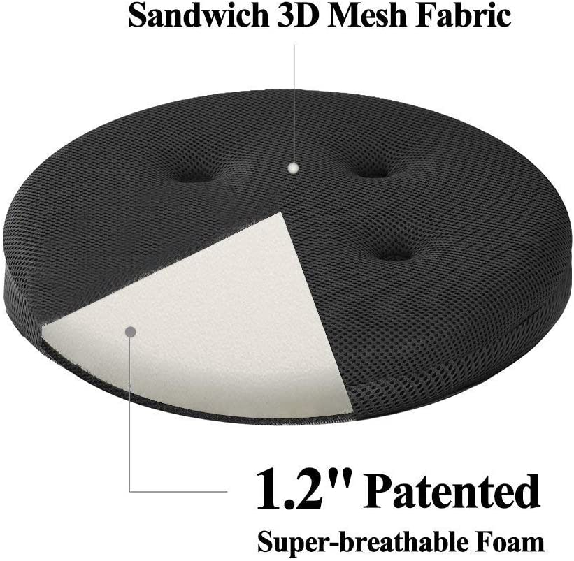 Super Breathable Round Bar Stool Cover Seat Cushion Navy Blue 13 baibu Stool Covers Round Cushion Only