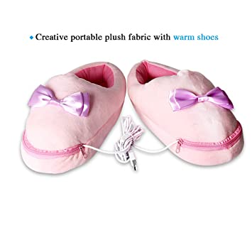 ddd83e9c6792 Amazon.com  USB Heated Slippers Heated Shoes Cold Weather
