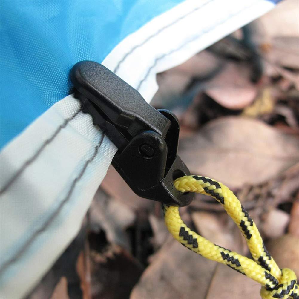 TaoNaisi Camping Clip Tenda Tenda Morsetti di serraggio Clip Nero Accessorio 10pcs