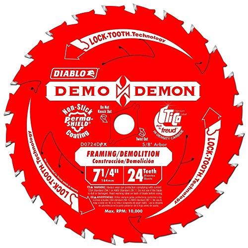 Freud Diablo D0724D-PX 7-1/4-Inch Demo Circular Saw Blade (6 Pack) ()