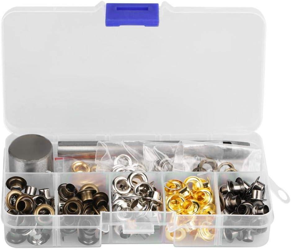 T/üllen-Kit 4mm*220 220//420 S/ätze /Ösen f/ür T/üllen /Ösen und Unterlegscheiben zum Ersetzen von Zubeh/ör
