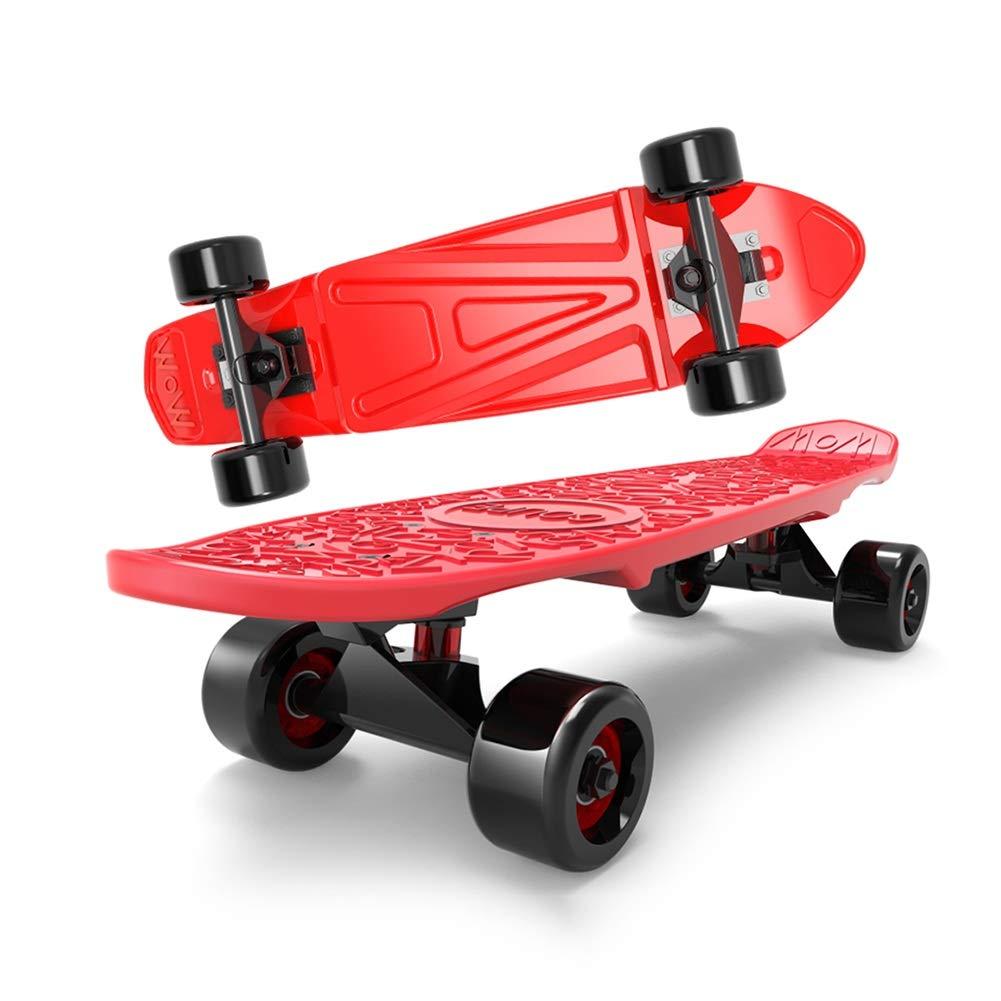 新品同様 ZX 4ラウンド スケートボード 子供 スクーター 青) 初心者 子供 小さな魚のプレート ブラシストリート 旅行 旅行 男性と女性 バナナプレート (色 : 青) B07H2D4W2G Red Red, 安蘇郡:84081744 --- a0267596.xsph.ru