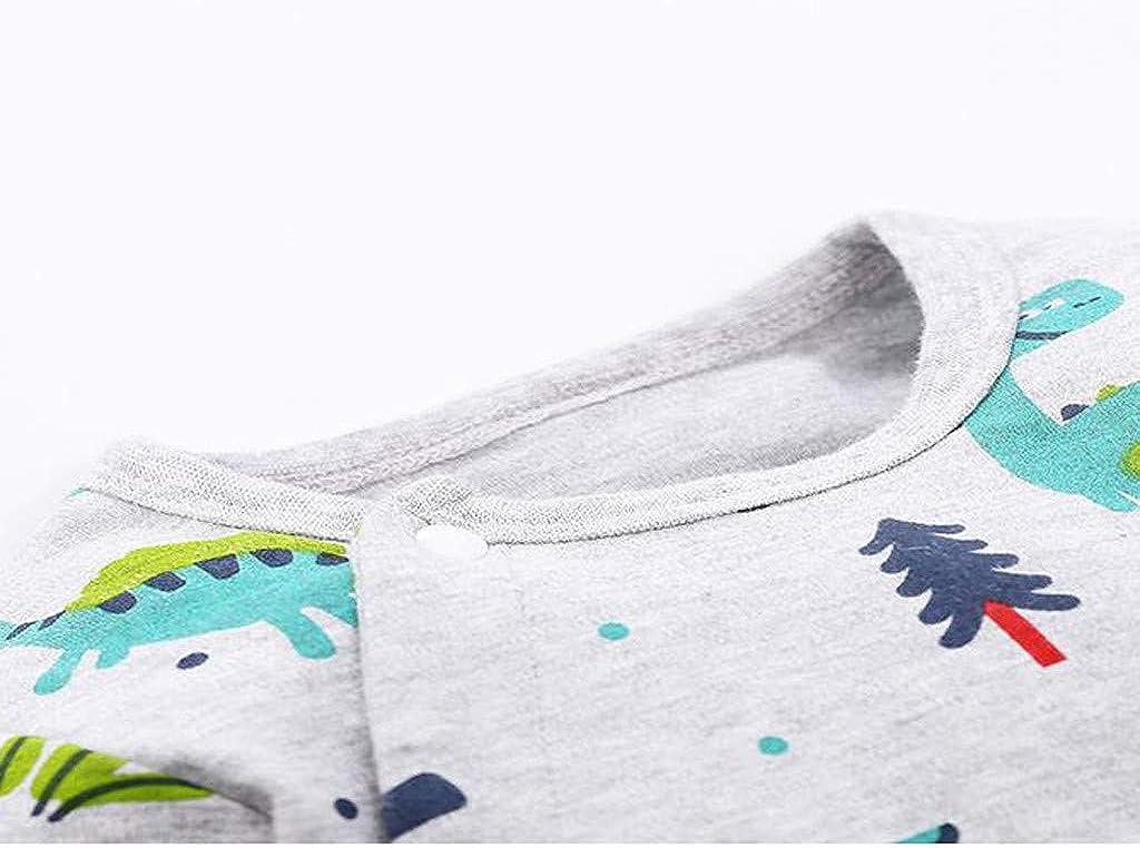 XXYsm Vetement B/éb/é Gar/çon Naissance,Les Nourrissons et Les Gar/çons Automne-Hiver Garder de Chaud Mode Dinosaure Imprim/é /à Manches Longues Combinaison