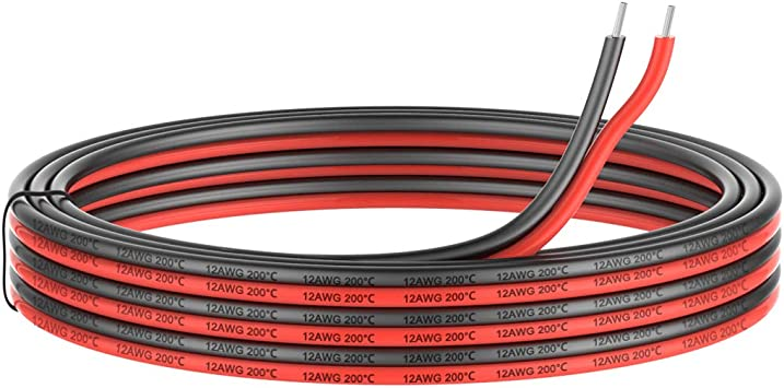 12 Gauge Electrical Wire 2 Conductor Parallel Silicone Wire 50ft Black 25ft Red 25ft 12 Awg 600v Flexible Extension Cable Cord Stranded Tinned Copper Wire Hookup Model Batter Cable Lead Wire Amazon Com
