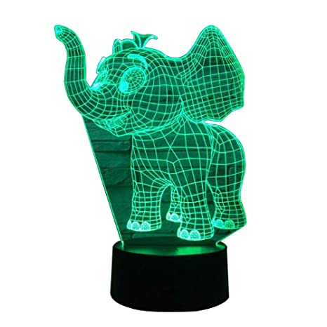 3d Night Lamp 7 Colors Gradual Changing Led Remote Control Visualization Illusion Atmosphere Light Desklamp Children Lamps By Scientific Process Led Night Lights Lights & Lighting