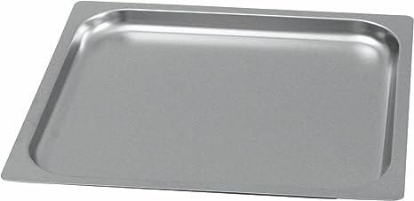 Gastronorm GN 2/3 - Bandeja para horno (borde liso, 20 mm de