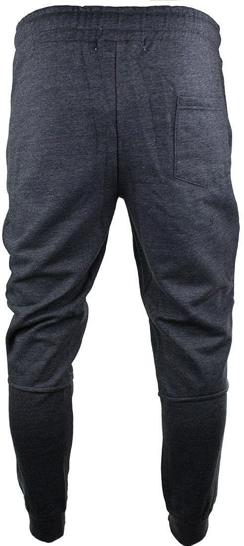 entt Mens Funky Slim Fit Zip Design Joggers Jogging Bottoms Retro Casual Fleece Charcoal xs